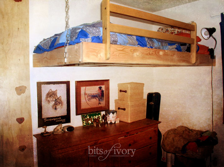 Hanging Loft Bed DIY Project