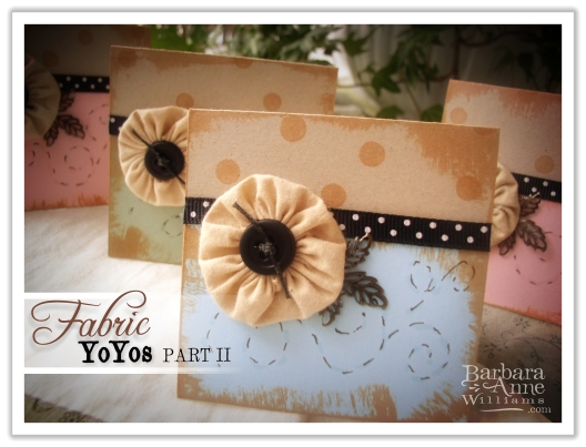 Fabric YoYos Part II | www.bitsofivory.com
