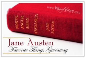 Jane Austen Giveaway - Northanger Abbey & Persuasion | www.bitsofivory.com