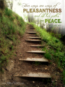 Wisdom | Her ways are ways of pleasantness and all her paths are peace. - Proverbs 3:17 | www.bitsofivory.com