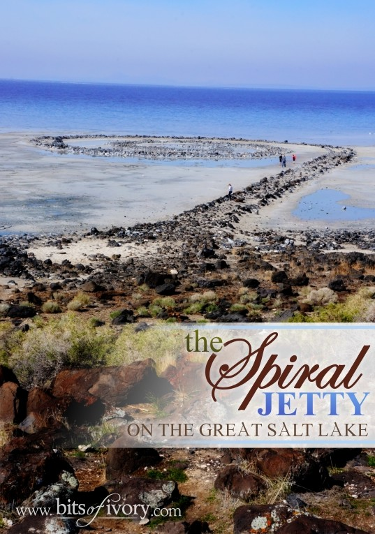 The Spiral Jetty on the Great Salt Lake | Places to See | www.bitsofivory.com