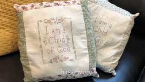 I am a Child of God printable embroidery patterns