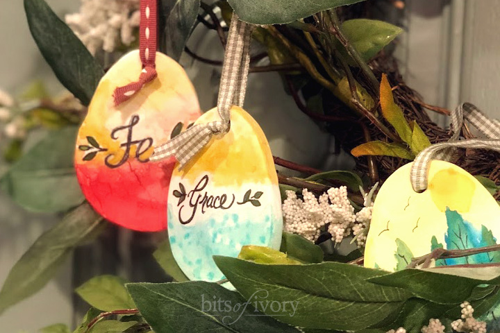 Painted Easter Egg Ornaments